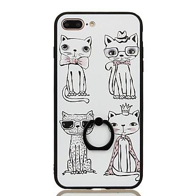 Varten Sormuksen pidike Kuvio Etui Takakuori Etui Kissa Kova PC varten Apple iPhone 7 Plus iPhone 7