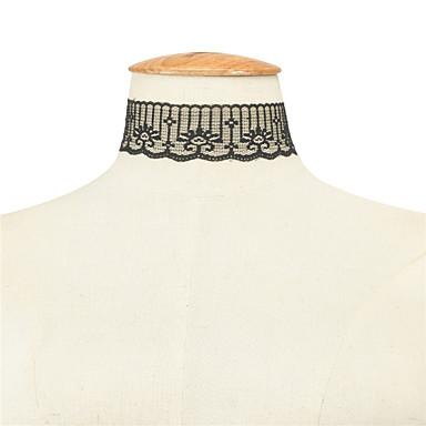 Dame Șuviță unică Personalizat Modă Euramerican stil minimalist European Coliere Choker Bijuterii Dantelă Coliere Choker . Petrecere