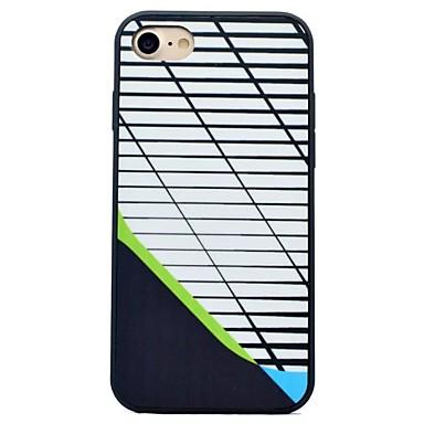 Na Odporne na wstrząsy IMD Szron Kılıf Etui na tył Kılıf Linie / fale Twarde PC na AppleiPhone 7 Plus iPhone 7 iPhone 6s Plus iPhone 6