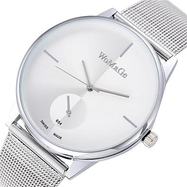 Mulheres Relógio de Moda Quartzo Relógio Casual Lega Banda Minimalista Prata