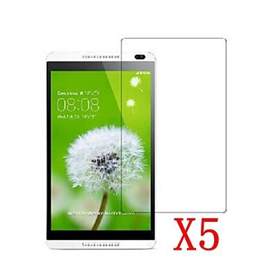 5 adet tablet pc 8 huawei mediapad m1 / s8-303 için lcd ekran koruyucusu koruyucu film temizleyin