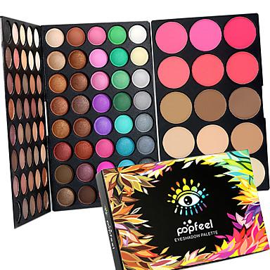 80 Color Eyeshadow + 15 Color Face Blush&Concealer Contour /Contourكونسيلر أحمر الخدود معلمات و مسمرات+الظلال جاف رطب غير لامع وميض العين