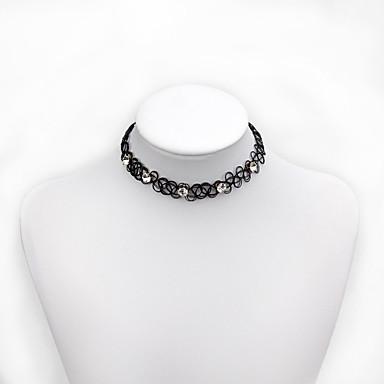 Kadın's Gerdanlıklar Kristal Reçine Kişiselleştirilmiş Euramerican minimalist tarzı Siyah Mücevher Için Düğün Parti 1pc