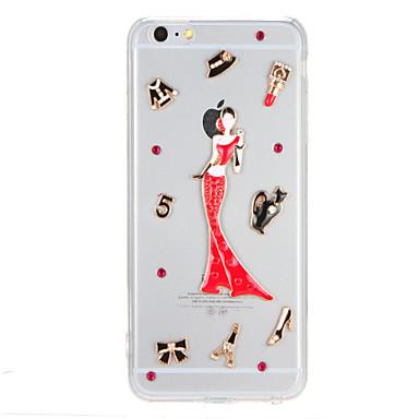 Için Taşlı Şeffaf Pouzdro Arka Kılıf Pouzdro Seksi Kadın Sert PC için AppleiPhone 7 Plus iPhone 7 iPhone 6s Plus iPhone 6 Plus iPhone 6s
