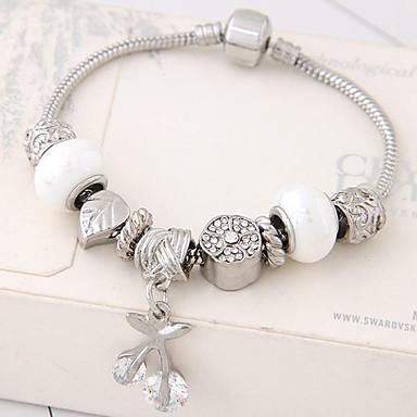 للمرأة أساور ساحرة موضة حجر الراين سبيكة وردة مجوهرات حزب مجوهرات أبيض