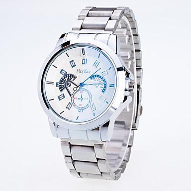 Erkek Spor Saat Elbise Saat Moda Saat Bilek Saati Çince Quartz Alaşım Bant İhtişam Yaratıcı Günlük Çok-Renkli