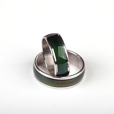 Kadın's Yüzük - Paslanmaz Çelik Kişiselleştirilmiş, Eşsiz Tasarım, Moda 6 / 7 / 8 Gümüş Uyumluluk Düğün / Parti / Özel Anlar