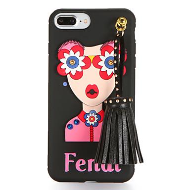 Etui Käyttötarkoitus iPhone 7 Plus iPhone 7 iPhone 6s Plus iPhone 6 Plus iPhone 6s iPhone 6 Apple DIY Takakuori Sexy Lady Pehmeä TPU
