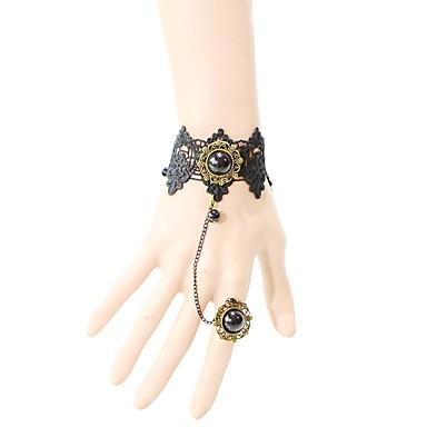 Pentru femei Brățări cu Lanț & Legături La modă Dantelă Crown Shape Negru Bijuterii Pentru Petrecere Ocazie specială Zi de Naștere Logodnă