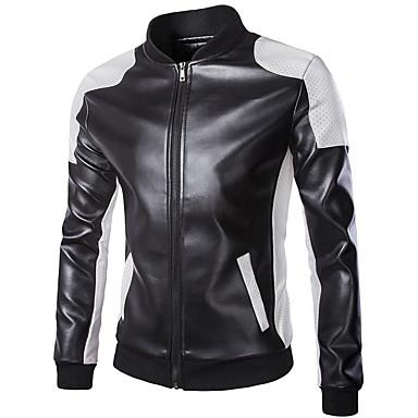 ملابس نارية Jacket جلد PU كل الفصول ضد الهواء