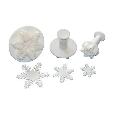 Bakeware araçları Plastik Çevre-dostu / Noel Ekmek / Kek / Çikolota Pişirme Kalıp 3adet