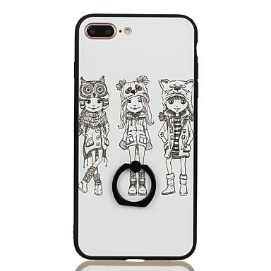 Varten Sormuksen pidike Kuvio Etui Takakuori Etui Seksikäs nainen Kova PC varten Apple iPhone 7 Plus iPhone 7