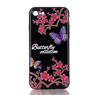 Uyumluluk Kılıflar Kapaklar Temalı Süslü Arka Kılıf Pouzdro Kelebek Yumuşak TPU için Apple iPhone 7 Plus iPhone 7 iPhone 6s Plus iPhone 6