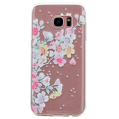 غطاء من أجل Samsung Galaxy S8 S7 edge شفاف نموذج غطاء خلفي زهور ناعم TPU إلى S8 S7 edge S7 S6 edge S6 S5 Mini S5