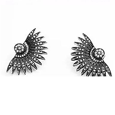 Vidali Küpeler Yapay Elmas Moda Eski Tip Kişiselleştirilmiş Euramerican Yapay Elmas alaşım Mücevher Gümüş Mücevher Için Düğün Parti Günlük