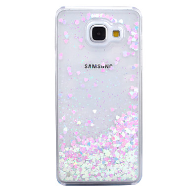 غطاء من أجل Samsung Galaxy سائل متدفق شفاف غطاء خلفي بريق لماع قاسي الكمبيوتر الشخصي إلى A7(2016) A5(2016)
