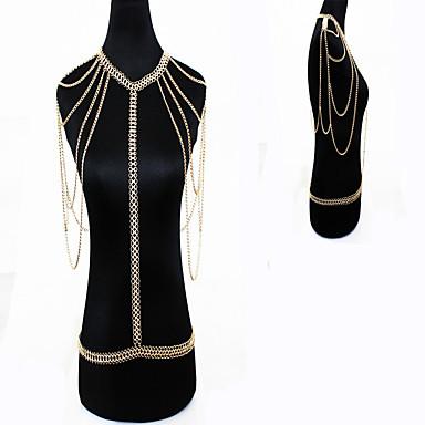 Dame Bijuterii de corp Corp lanț / burtă lanț Natură La modă Bohemia Stil Cristal Aliaj Auriu Bijuterii Pentru Ocazie specială Casual1