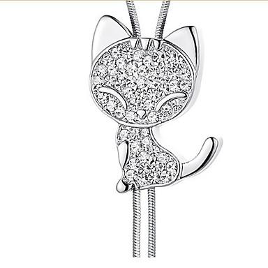 Pentru femei Coliere cu Pandativ Cristal Design Animal La modă Personalizat Alb Bijuterii Pentru Nuntă Petrecere Zi de Naștere 1 buc