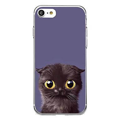 tok Για Apple Εξαιρετικά λεπτή Με σχέδια Πίσω Κάλυμμα Γάτα Μαλακή TPU για iPhone 7 Plus iPhone 7 iPhone 6s Plus iPhone 6 Plus iPhone 6s