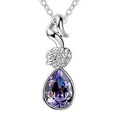 Damskie Naszyjniki z wisiorkami Kryształ Spersonalizowane Unikalny Modny euroamerykańskiej Biżuteria Na Ślub Impreza Urodziny