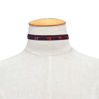 Pentru femei Șuviță unică Personalizat Modă Euramerican Coliere Choker Bijuterii Material Textil Aliaj Coliere Choker . Zilnic Casual