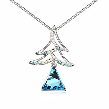 Damskie Naszyjniki z wisiorkami Kryształ Triangle Shape Spersonalizowane euroamerykańskiej Biżuteria Na Prezenty bożonarodzeniowe