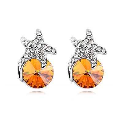 Pentru femei Cercei Stud Cristal Personalizat Adorabil Cute Stil Euramerican Bijuterii Pentru Nuntă Petrecere Zi de Naștere