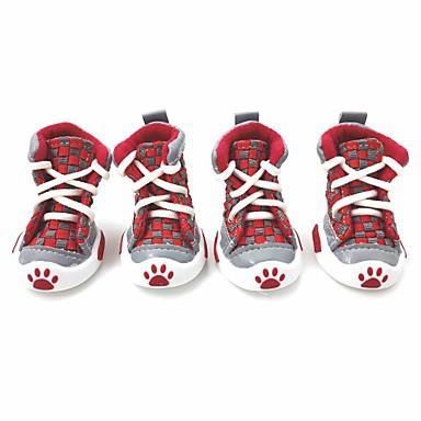 Σκυλιά Παπούτσια & Μπότες Χειμώνας Καλοκαίρι Άνοιξη/Χειμώνας Μοντέρνα Αθλητικά Καρό/Τετραγωνισμένο Πορτοκαλί Κόκκινο Πράσινο Μπλε