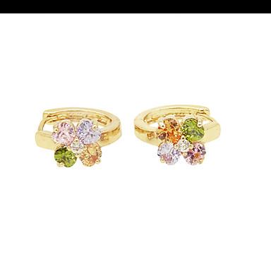 Dame Fete Cercei Diamant sintetic Design Unic Stil Floral Flori Floral La modă Personalizat Hipoalergenic Euramerican Plin de Culoare