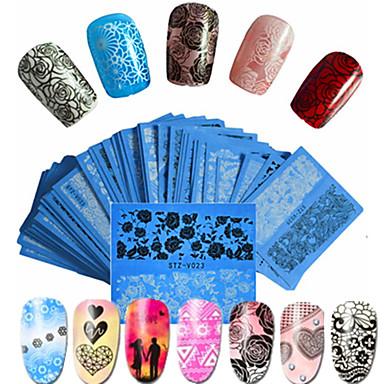 48pcs set hot fashion sweet style beautiful lace nail water transfer decals beautiful flower lace nail art diy beauty beautiful decals stz v01 48