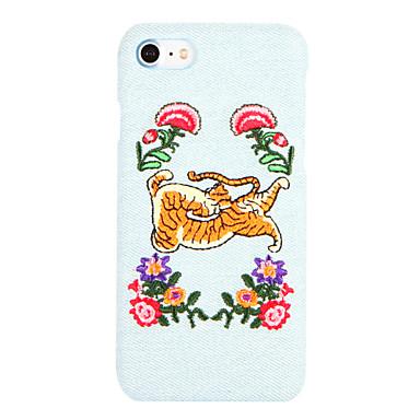 Varten Kuvio DIY Etui Takakuori Etui Eläin Kova Tekstiili varten AppleiPhone 7 Plus iPhone 7 iPhone 6s Plus iPhone 6 Plus iPhone 6s