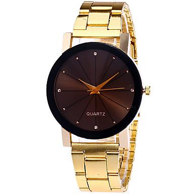 Bayanların Moda Saat Bilek Saati Quartz Alaşım Bant Havalı Günlük Gümüş Altın Rengi Gül Altın Altın Gümüş Gül Altın