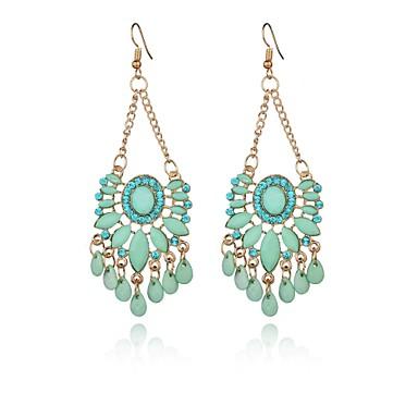 Γυναικεία Κρυστάλλινο Κρύσταλλο Κρεμαστά Σκουλαρίκια - Λουλουδάτο / Geometric Μπλε Geometric Shape Σκουλαρίκια Για Πάρτι / Καθημερινά /
