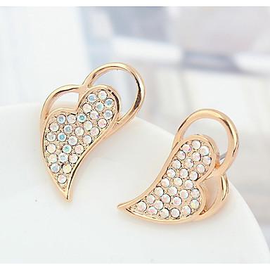 Damskie Kolczyki na sztyft Kryształ Spersonalizowane Miłość Serce euroamerykańskiej Biżuteria Na Ślub Impreza Urodziny