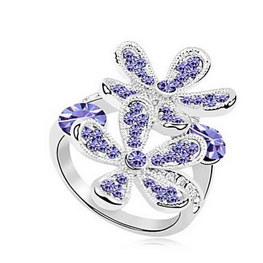 Kadın's Yüzük Mücevher Basic Tasarım Çiçekli Kişiselleştirilmiş Euramerican Değerli Taş Mücevher Mücevher Uyumluluk Parti Özel Anlar