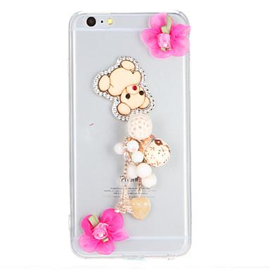 Varten Paljetti Läpinäkyvä Etui Takakuori Etui Piirros Kova PC varten AppleiPhone 7 Plus iPhone 7 iPhone 6s Plus iPhone 6 Plus iPhone 6s