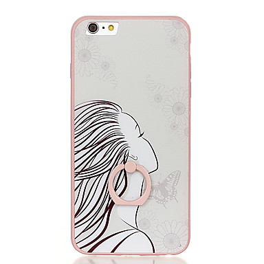 Varten Sormuksen pidike Kuvio Etui Takakuori Etui Seksikäs nainen Kova PC varten Apple iPhone 6s Plus iPhone 6 Plus iPhone 6s iPhone 6