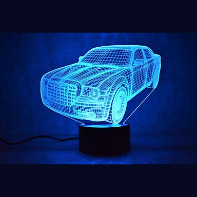 1 szt. 3D Nightlight Wielokoloroe USB Sensor Przysłonięcia Wodoodporne Zmieniająca Kolor