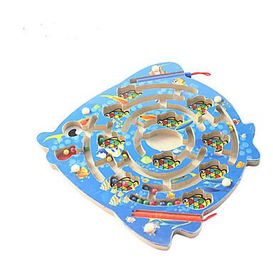 Drewniane puzzle Labirynty i puzzle Układanka Luban Magnetyczne labirynty Zabawka edukacyjna Zabawki Magnetyczne DZIECIĘCE Dla dzieci 1