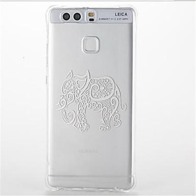 tok Για Huawei Ανθεκτική σε πτώσεις Διαφανής Με σχέδια Πίσω Κάλυμμα Ελέφαντας Μαλακή TPU για Huawei P9 Huawei P9 Lite Huawei P8 Lite