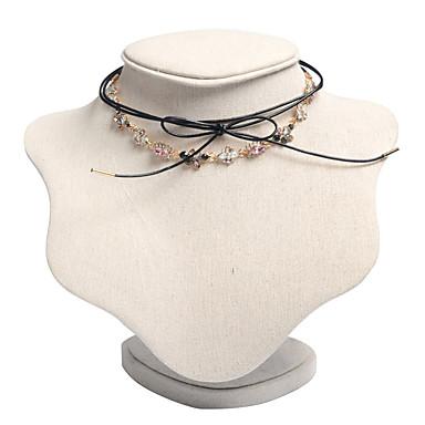 Kadın's Gerdanlıklar Mücevher Mücevher Değerli Taş alaşım Sallantılı Stil Moda Euramerican Altın Mücevher Için Günlük 1pc