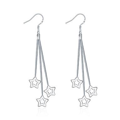 Pentru femei Fete Cercei Dangle Cristal La modă Argilă Star Shape Bijuterii Pentru Nuntă Petrecere Zilnic Casual