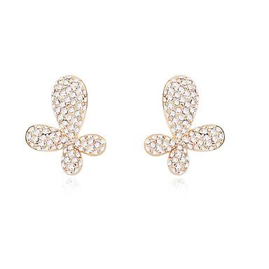 Kadın's Vidali Küpeler Kristal Kişiselleştirilmiş Çiçek Eşsiz Tasarım Euramerican Mücevher Uyumluluk Düğün Parti Doğumgünü
