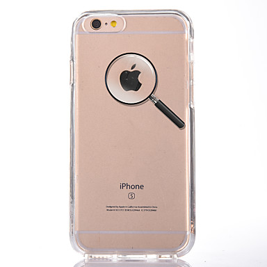 Pentru Transparent Model Maska Carcasă Spate Maska Se joaca cu logo-ul Apple Moale TPU pentru AppleiPhone 7 Plus iPhone 7 iPhone 6s Plus