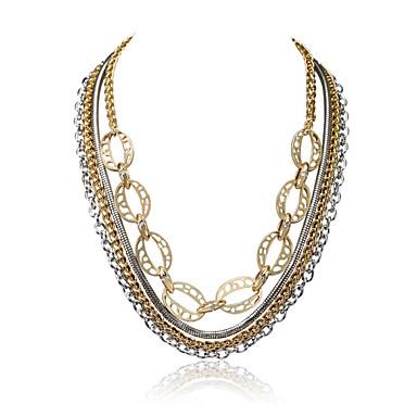 Γυναικεία Geometric Shape Πολυτέλεια Μοναδικό Euramerican Κοσμήματα με στυλ ΗΠΑ Κολιέ Δήλωση Κοσμήματα Κράμα Κολιέ Δήλωση , Γάμου Πάρτι