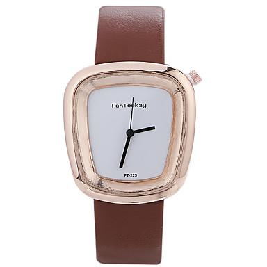 Bărbați Ceas La Modă Ceas de Mână Unic Creative ceas Ceas Casual Chineză Quartz / de lemn Piele Bandă Cool Casual Negru Alb Albastru Maro