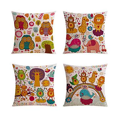 4.0 szt Bielizna Poduszka Body Pillow Poduszka turystyczna sofa Poduszka Poduszka-Nowość Poszewka na poduszkę, Wzór zwierzęcy Święto