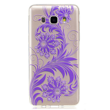 hoesje Voor Samsung Galaxy J7 (2016) J5 (2016) IMD Transparant Achterkantje Bloem Zacht TPU voor J7 (2016) J5 (2016) J5 J3 J3 (2016) J1