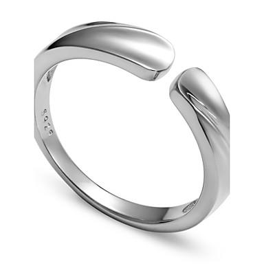 Herrn Ring Silber Sterling Silber Kreisförmig Euramerican nette Art Punk Hochzeit Party Geschenk Alltag Normal Sport Valentinstag