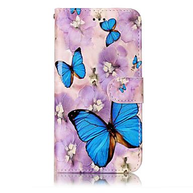 Voor huawei p10 lite p8 lite (2017) pu leer materiaal vlinder patroon reliëf telefoon hoesje p10 plus p10 p9 lite p8 lite